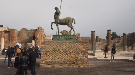 Pompeii, the City Buried Under by Volcanic Ashes