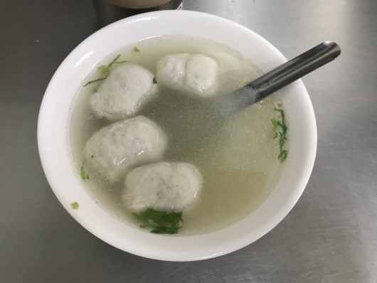 Fishball Soup in Tamsui